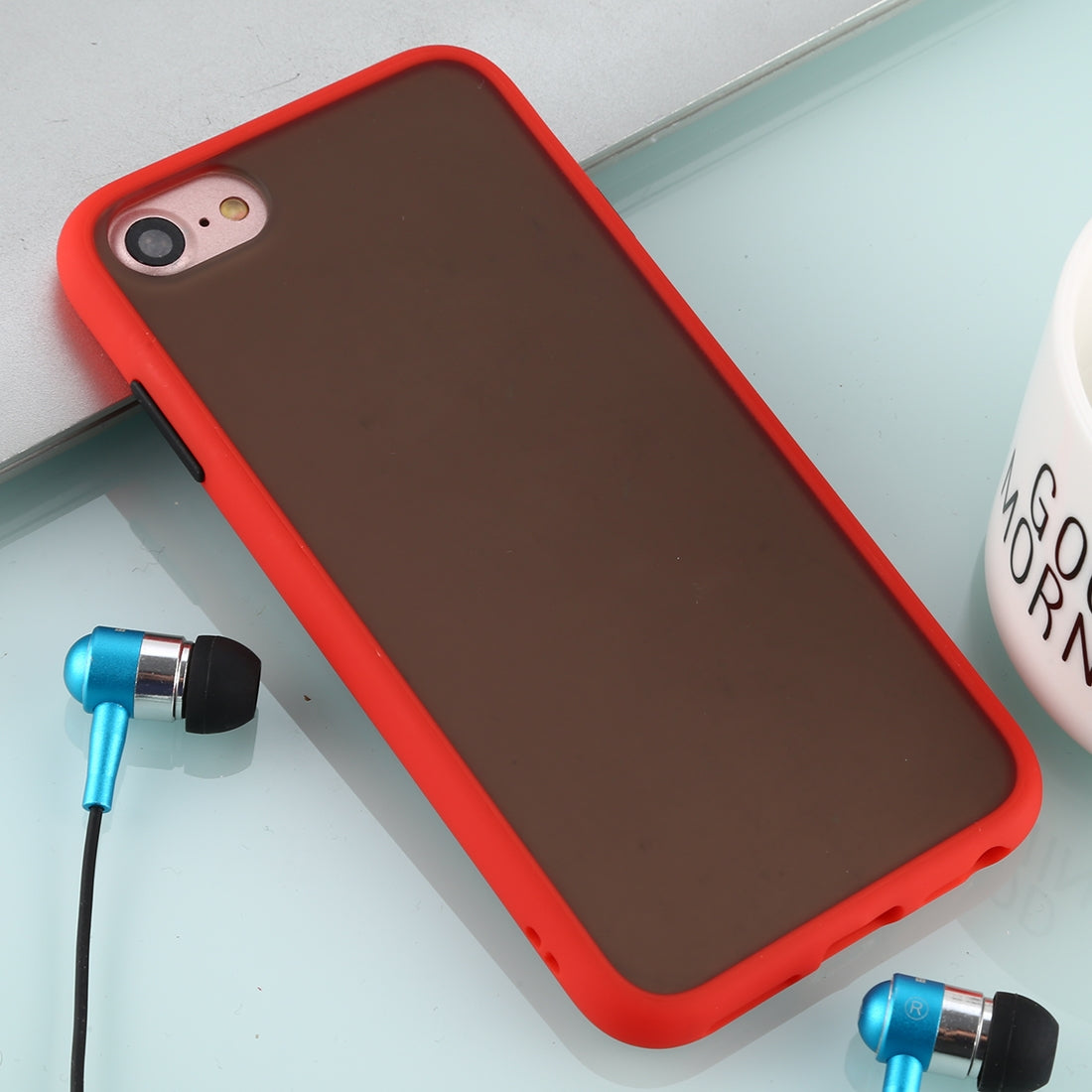 For iPhone 8 / 7 Skin Hand Feeling Series Anti-fall Frosted PC+ TPU Case(Red)