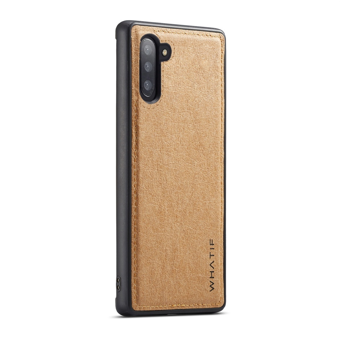 For Galaxy Note 10 WHATIF Kraft Paper TPU + PC Full Coverage Protective Case(Brown)