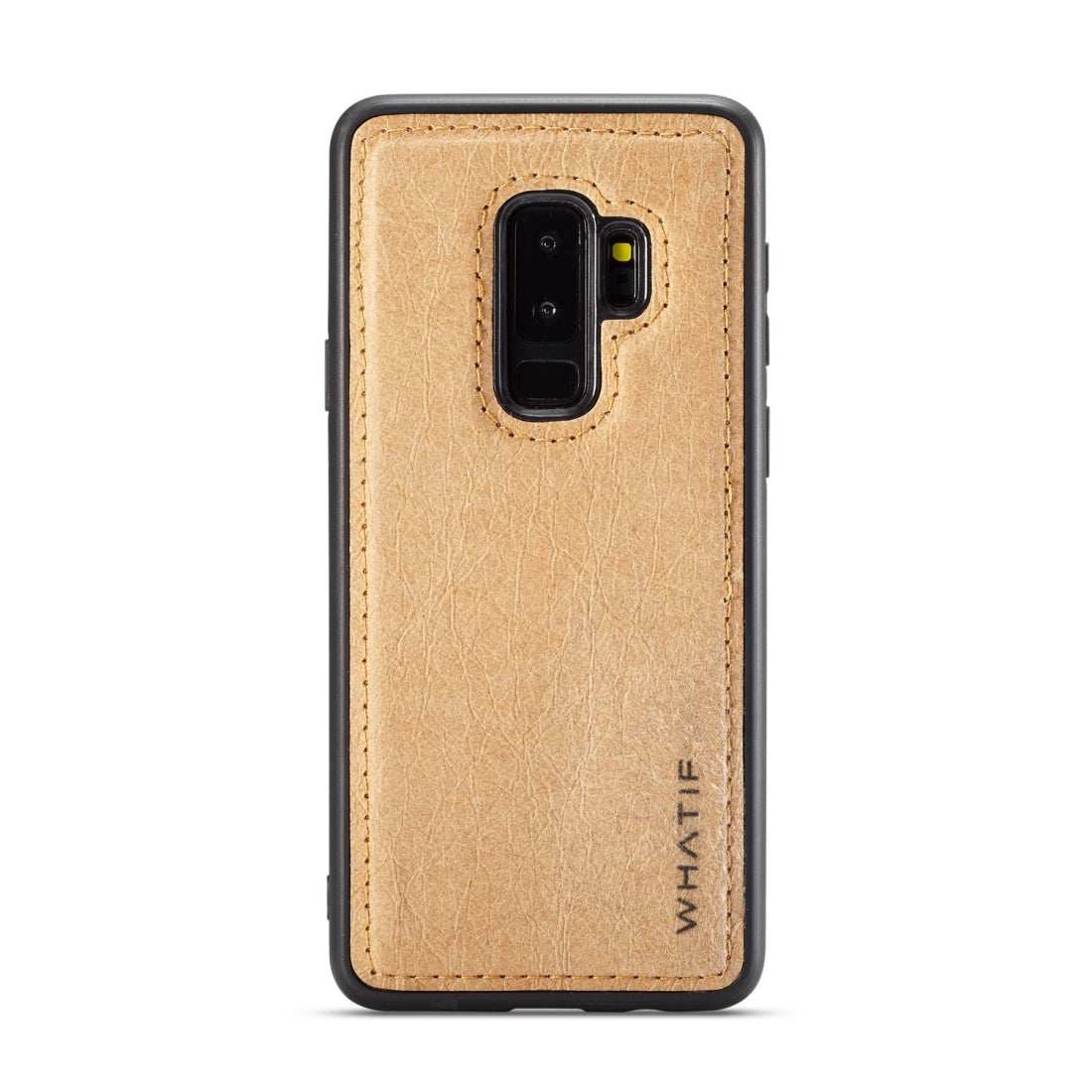 For Galaxy S9+ WHATIF Kraft Paper TPU + PC Full Coverage Protective Case(Brown)