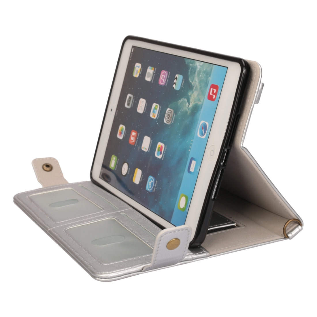 For iPad mini 5 / 4 / 3 / 2 / 1 Envelope Horizontal Flip PU Leather Case with Card Slots & Pen Slots