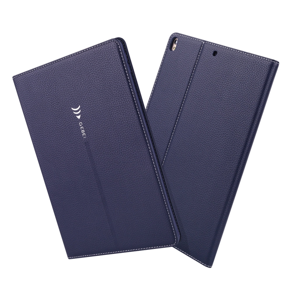 For iPad 10.2 inch GEBEI PU+TPU Horizontal Flip Protective Case with Holder & Card Slots(Blue)
