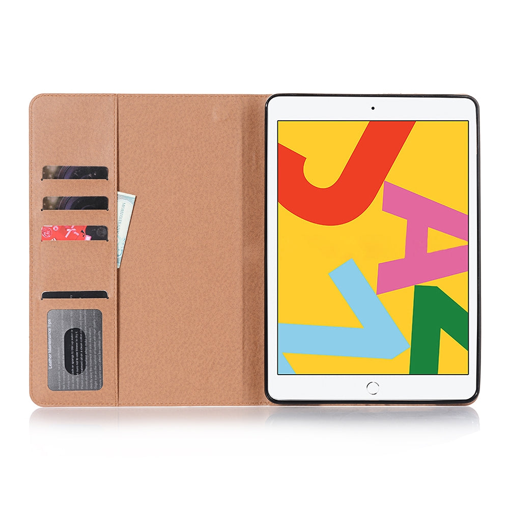 For iPad 10.2 / 10.5 Retro Book Style Horizontal Flip Leather Case with Holder & Card Slots & Wallet(Black)