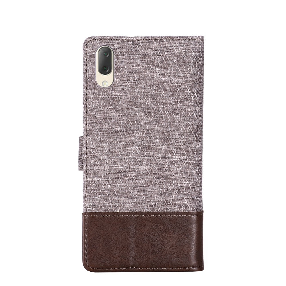 For Sony Xperia L3 MUMXA MX102 Horizontal Flip Canvas Stitching Leather Case with Holder & Card Slots & Wallet(Brown)