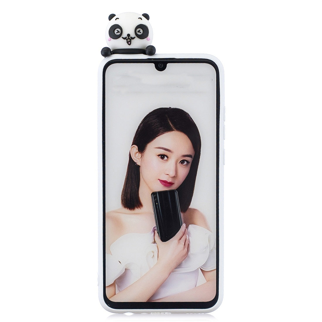 For Huawei P Smart 2019 Shockproof Cartoon TPU Protective Case(Panda)