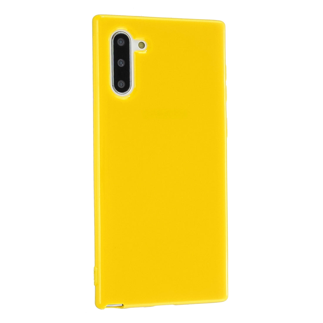 For Galaxy Note 10 2.0mm Thick TPU Candy Color Protective Case(Yellow)