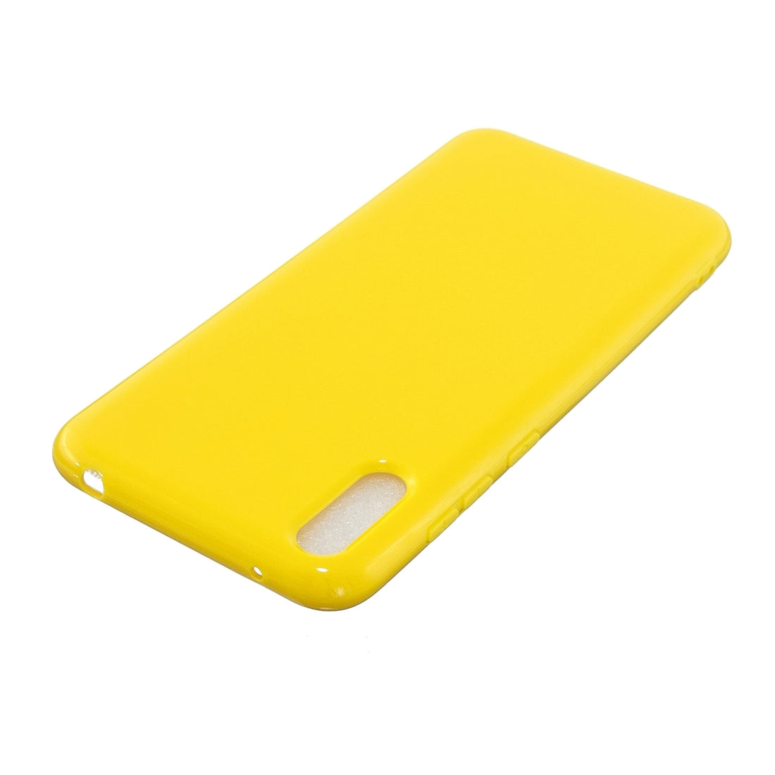 For Huawei Y7 Pro (2019) 2.0mm Thick TPU Candy Color Protective Case(Yellow)