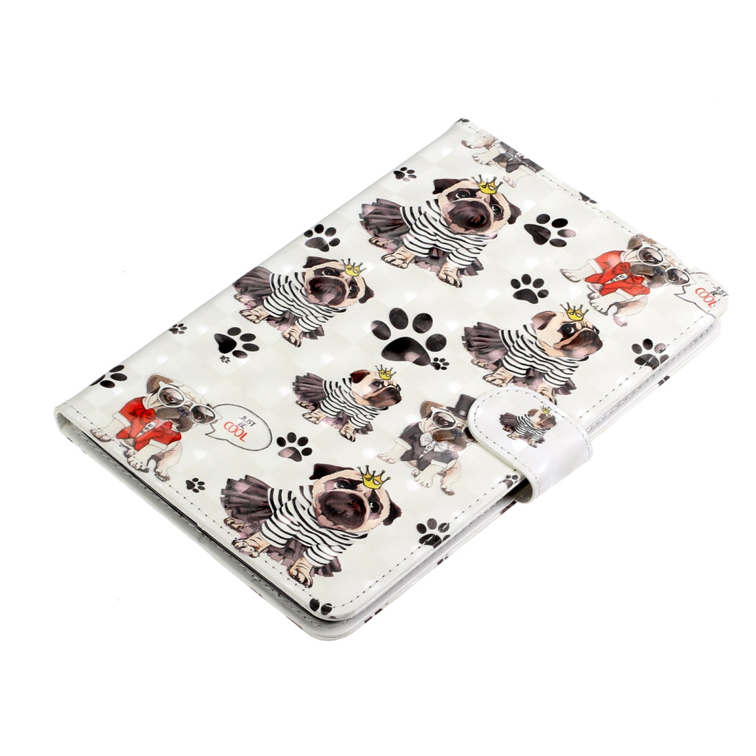 iPad mini 1 /2 / 3 / 4 / 5 Colored Drawing Horizontal Flip Leather with Holder & Card Slot & Wallet Sleep / Wake-up Function(Crown Dog)