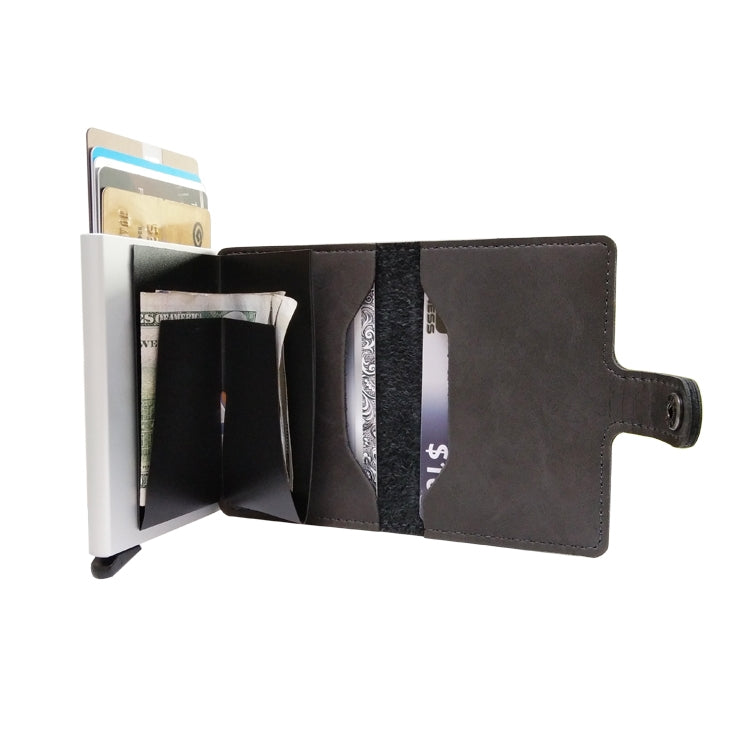 For 6.5 inch and Below Mobile Phone Universal multi-function Card Slot & Wallet & Holder & Photo Frame(Black)