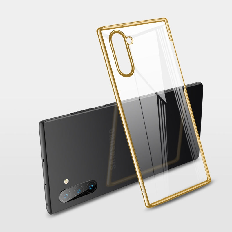 For Galaxy Note10 X-level Dawn Series Transparent Ultra-thin TPU Case(Gold)