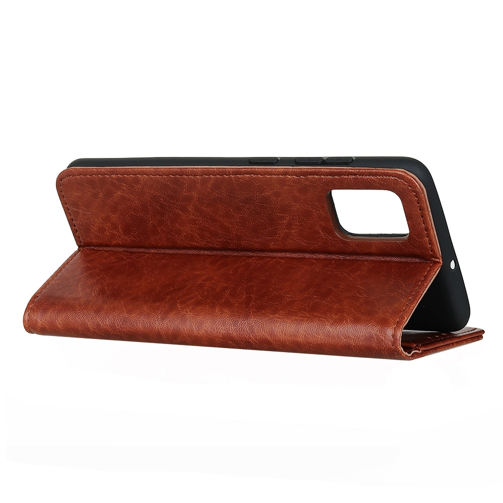 For Huawei P40 Magnetic Retro Crazy Horse Texture Horizontal Flip Leather Case with Holder & Card Slots & Wallet(Brown)