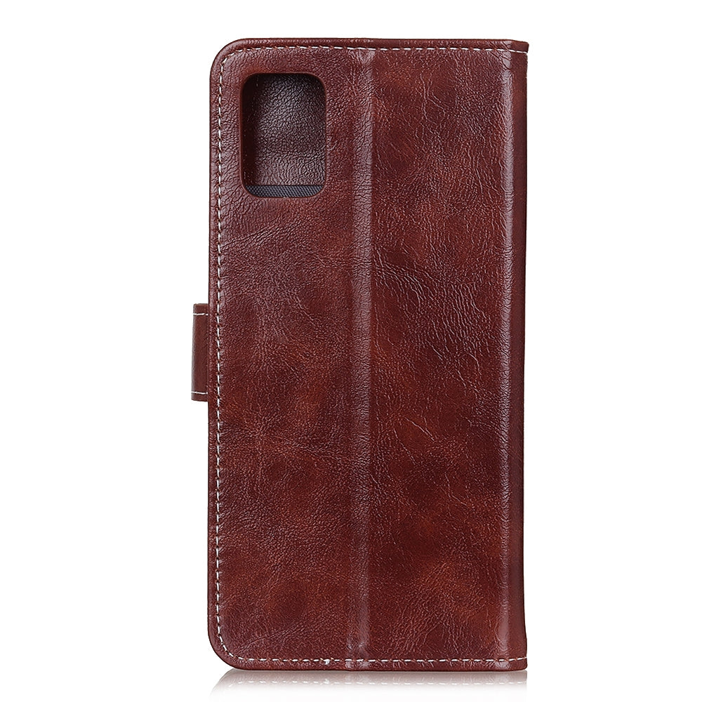 For Huawei P40 Retro Crazy Horse Texture Horizontal Flip Leather Case with Holder & Card Slots & Wallet & Photo Frame(Brown)