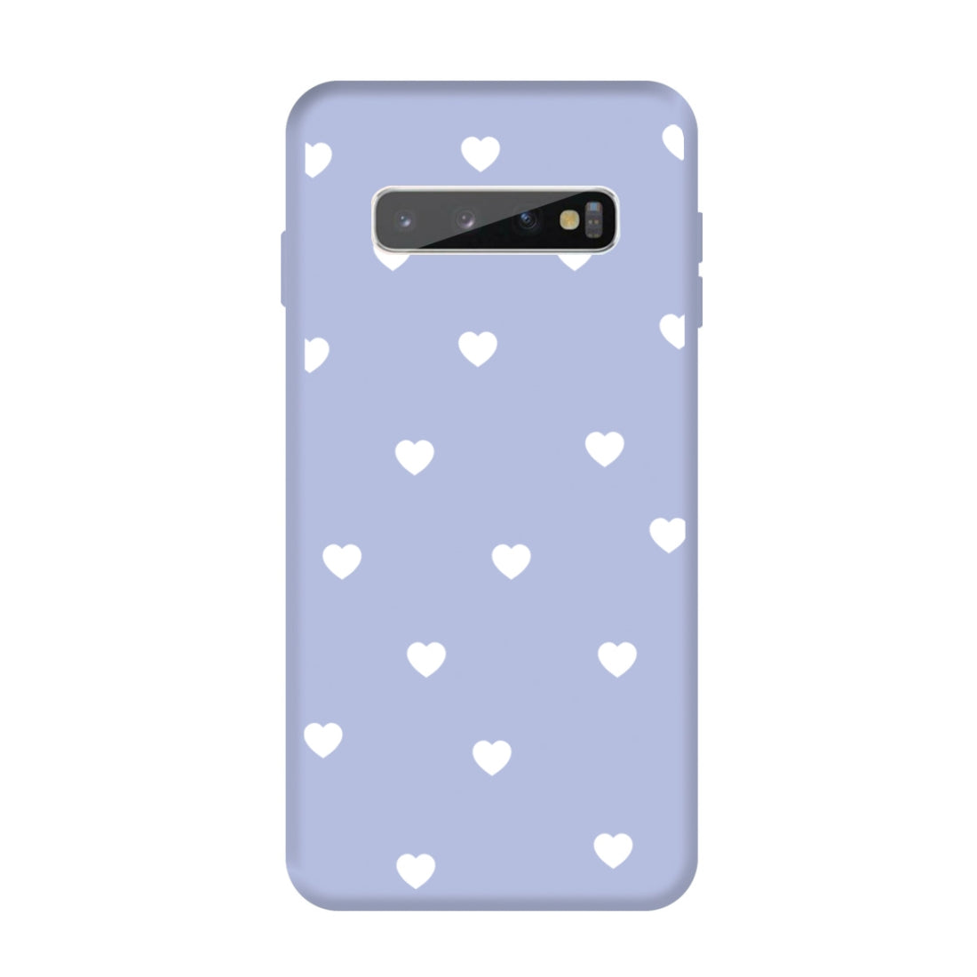 For Galaxy S10+ Multi Love Heart Pattern Frosted TPU Protective Case(Light Purple)
