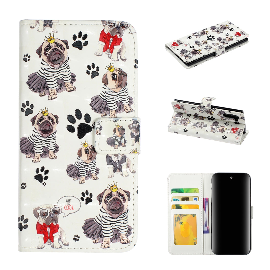 For Galaxy Note 10 3D Embossed Horizontal Flip Leather Case, with Holder & Card Slots & Wallet & Photo Frame(Crown Dog)