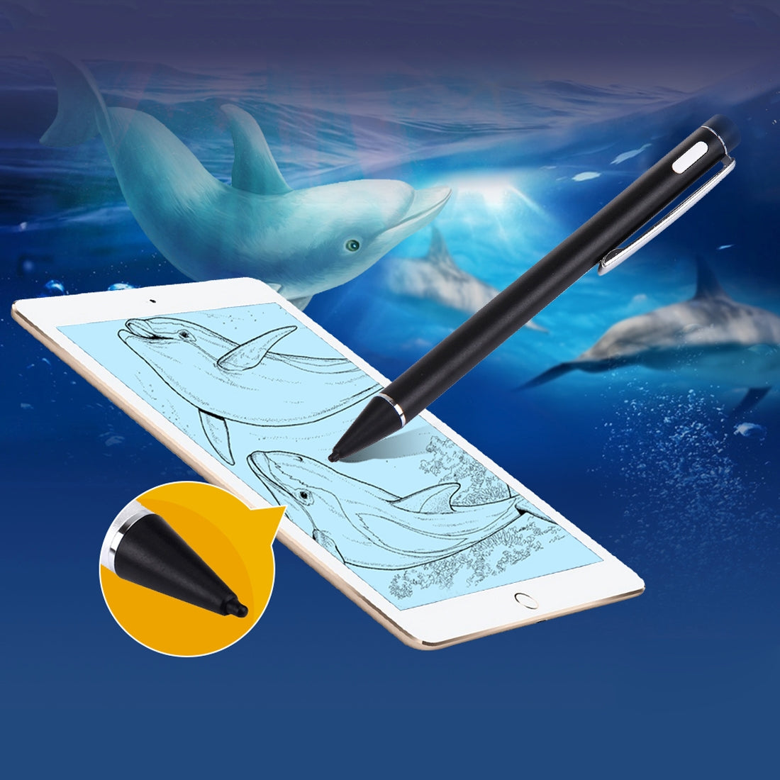 Universal Rechargeable Capacitive Touch Screen Stylus Pen, For iPhone, iPad, Samsung