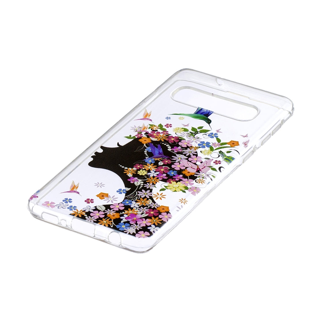 Painted TPU Protective Case For Galaxy S10 Plus(Floral Girl Pattern)