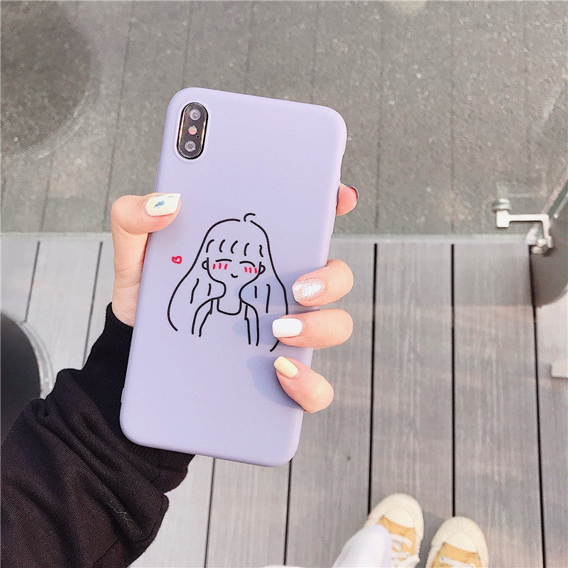 TPU Protective Case For iPhone 8 & 7(Cartoon Model F)