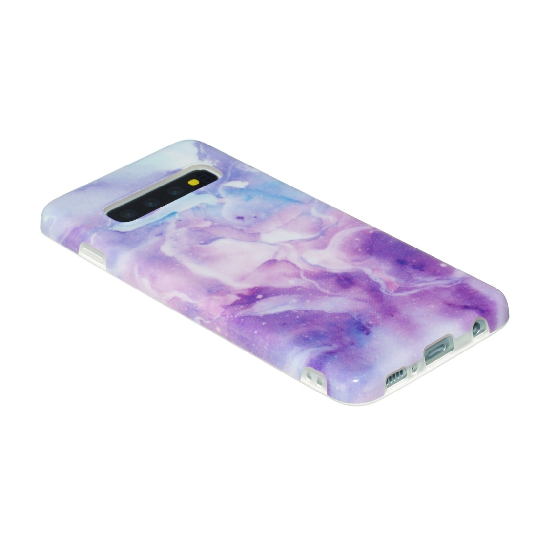 TPU Protective Case For Galaxy S10 Plus(Purple Marble)