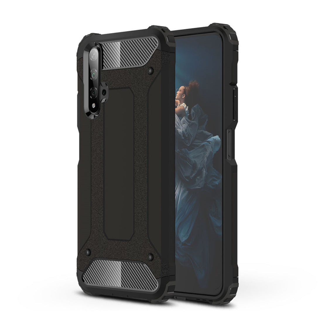Magic Armor TPU + PC Combination Case for Huawei Honor 20(Black)