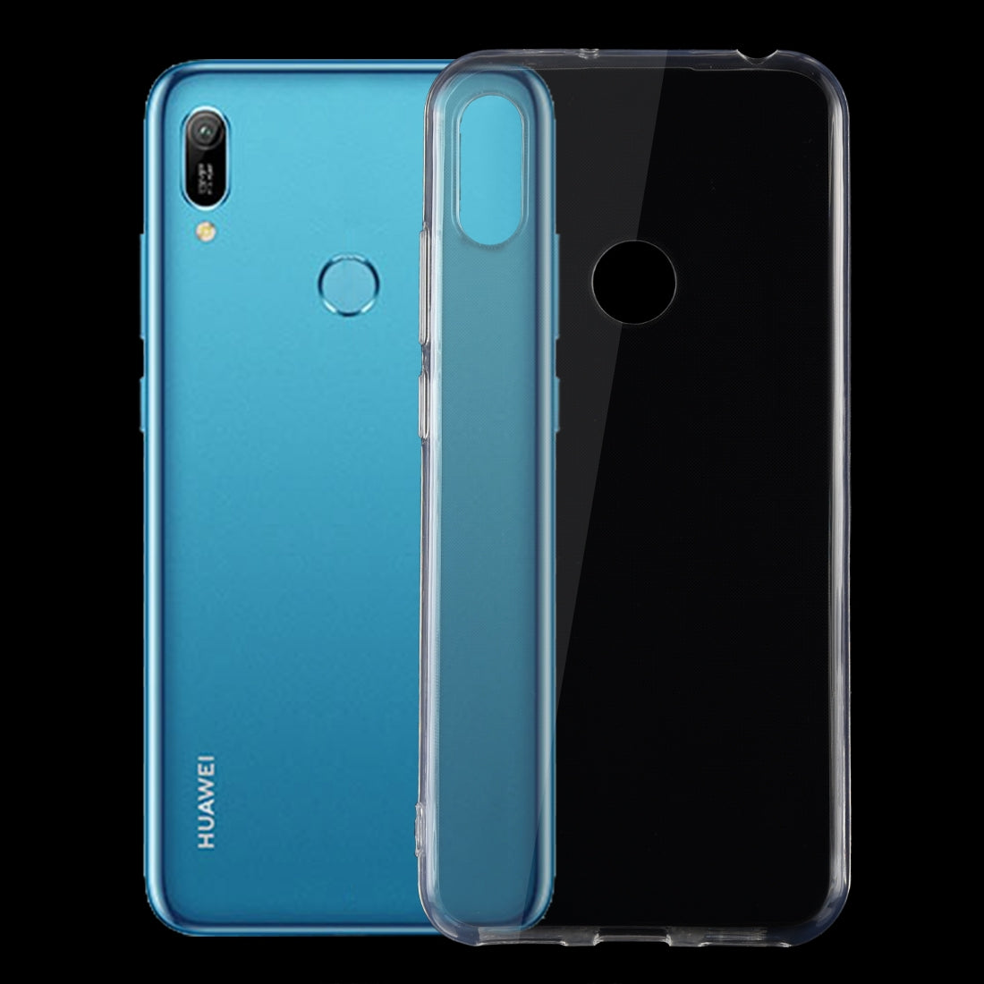 0.75mm Ultrathin Transparent TPU Soft Protective Case for Huawei Y6 2019