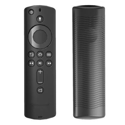 Non-slip Texture Washable Silicone Remote Control Cover for Amazon Fire TV Remote Controller (Black)