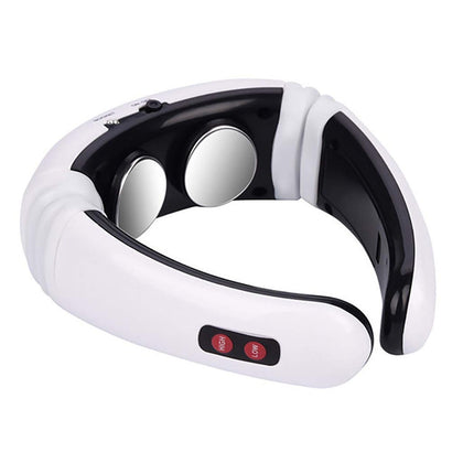 USB Charging 1300 mAh Electric Back Neck Shoulder Electrical Pulse Electric Shock Body Massager