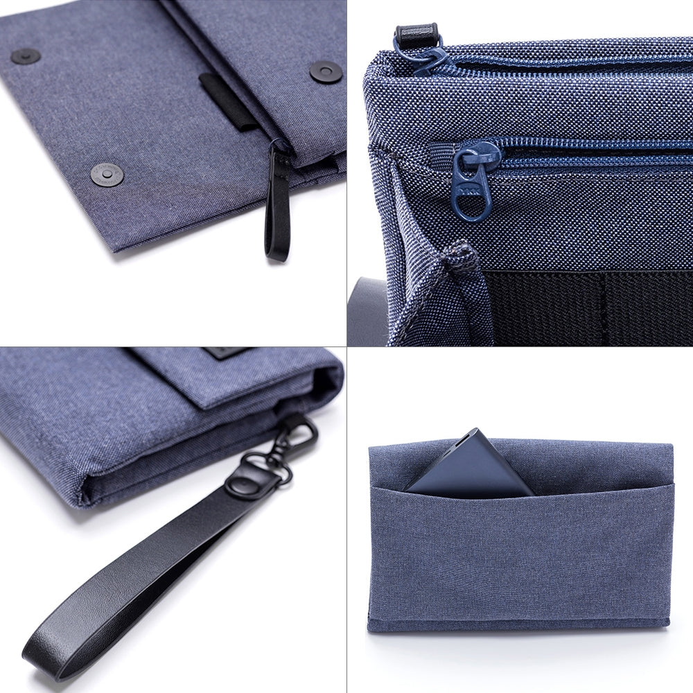 Original Xiaomi Portable Waterproof Oxford Cloth Digital Storage Bag with Detachable Lanyard(Grey)