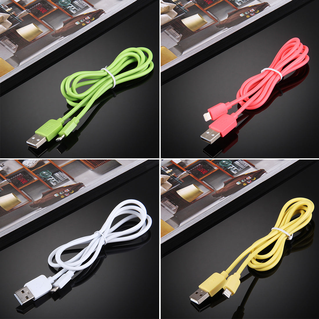 35 PCS Mixed Colors HAWEEL 1m High Speed 35 Cores 8 pin to USB Sync Charging Cable Kit with Candy Cans Package, For iPhone XR / iPhone XS MAX / iPhone X & XS / iPhone 8 & 8 Plus / iPhone 7 & 7 Plus / iPhone 6 & 6s & 6 Plus & 6s Plus / iPad