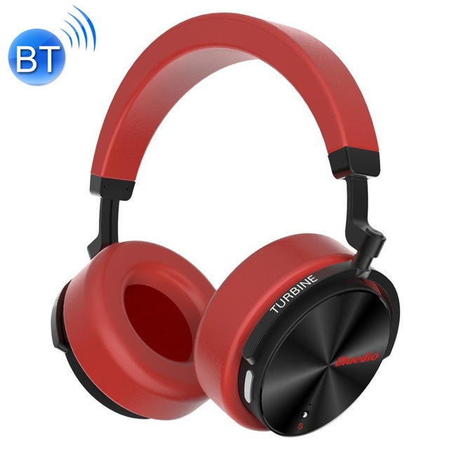 Bluedio T5S Bluetooth Version 5.0 Headset Bluetooth Headset Supports Headset Auto Play(Red)