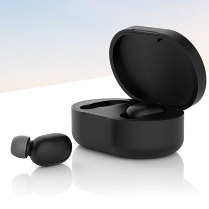 Silicone Charging Box Protective Case for Xiaomi Redmi AirDots(Black)