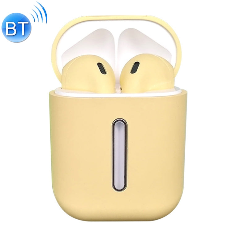 Q8L TWS Bluetooth 5.0 Touch Wireless Bluetooth Earphone with Magnetic Adsorption Charging Case, Supports Power Display & HD Calling(Yellow)