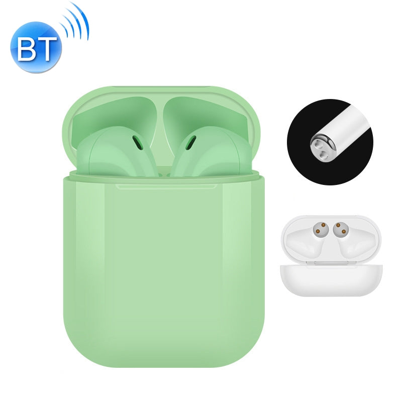 i10 touch-tws Bluetooth Headset 5.0 Stereo Tune Call Support Touch Bluetooth Headset(Green)