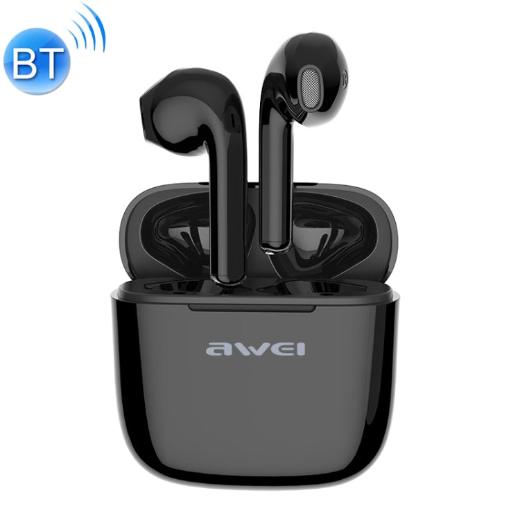 awei T26 TWS Bluetooth V5.0 Ture Wireless Sports Headset with Charging Case(Black)