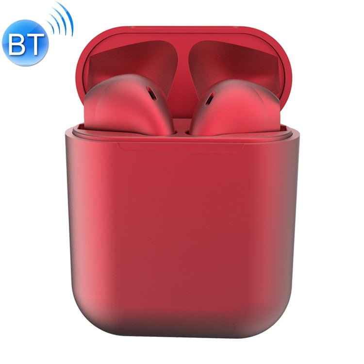 InPods12 TWS Bluetooth 5.0 Metallic Matte Plating Bluetooth Earphone with Charging Case, Supports Call & Touch(Red)
