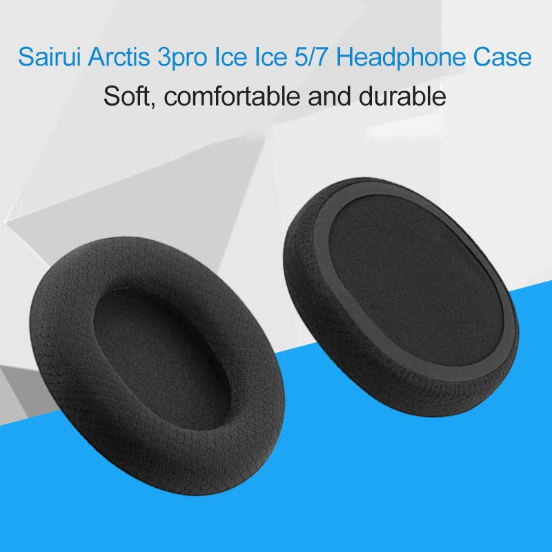 1 Pair Leather Sponge Protective Case for Steelseries Arctis 3 Pro  / Ice 5 / Ice 7 Headphone(Black Montage)