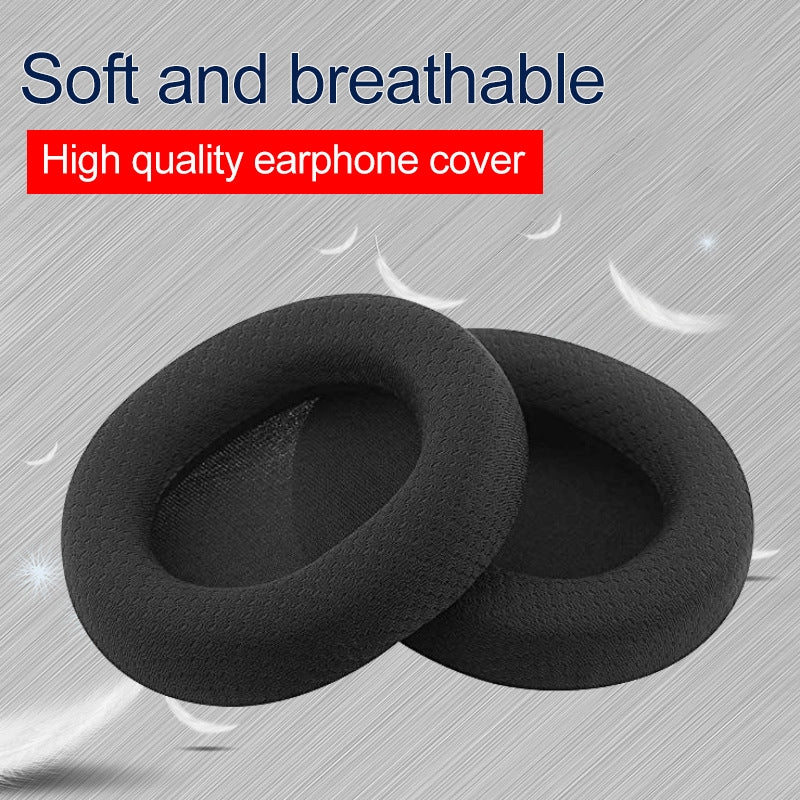 1 Pair Leather Sponge Protective Case for Steelseries Arctis 3 Pro  / Ice 5 / Ice 7 Headphone(Black Leather)