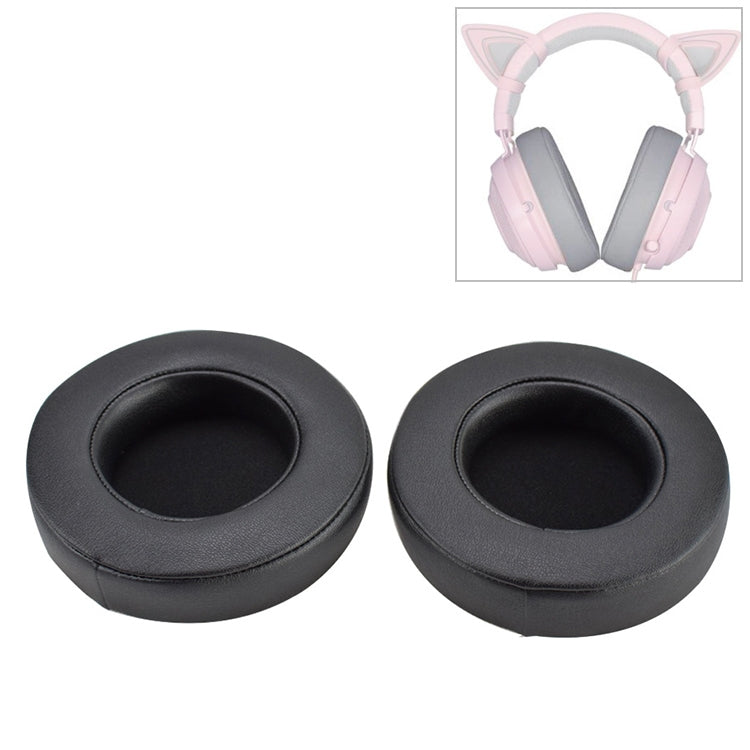 2 PCS For Razer Kraken 7.1 V2 Pro Headphone Cushion Sponge Gel Cover Earmuffs Replacement Earpads