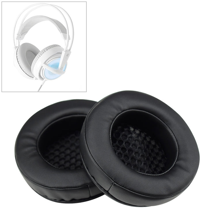 2 PCS For XIBERIA V2 / V5 / X10 / 12 Thicken Headphone Cushion Sponge Cover Earmuffs Replacement Earpads (Black)