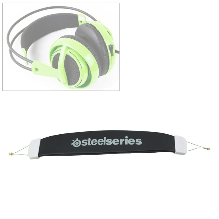 For Steelseries Siberia V1 / V2 Replacement Headband Head Beam Headgear Pad Cushion Repair Part (Black)