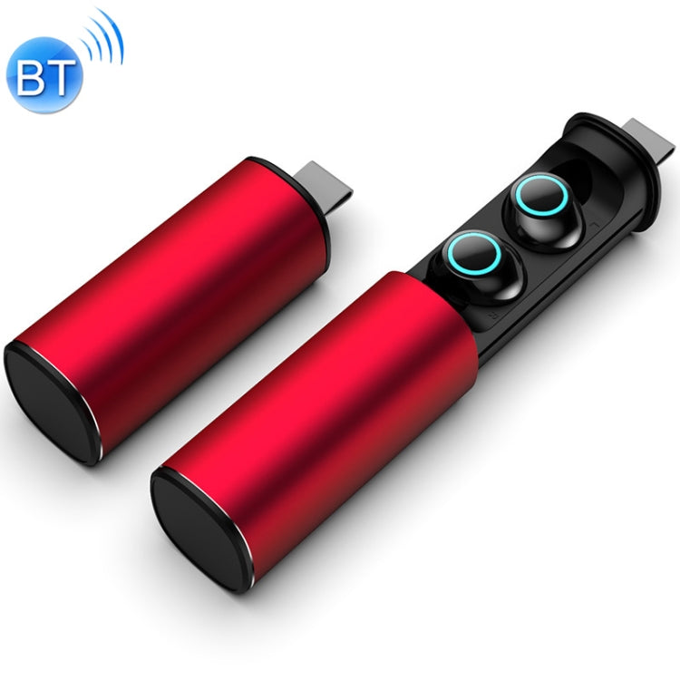 S5 Twins Sports Magnetic Ear-in TWS Bluetooth V5.0 Wireless Earphones(Red)