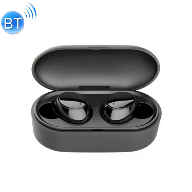 X9S TWS Bluetooth V5.0 Stereo Wireless Earphones with LED Charging Box(Black)