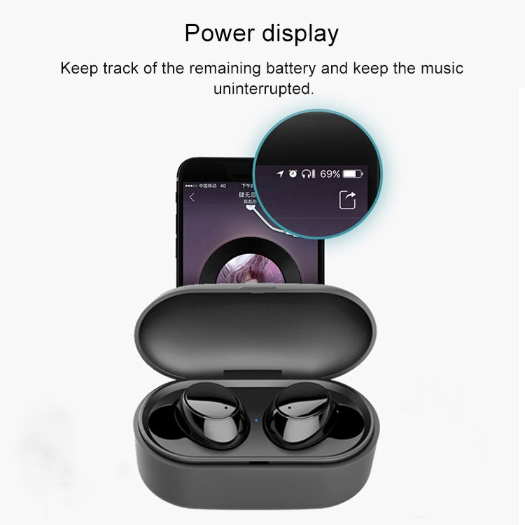X9S TWS Bluetooth V5.0 Stereo Wireless Earphones with LED Charging Box(Blue)