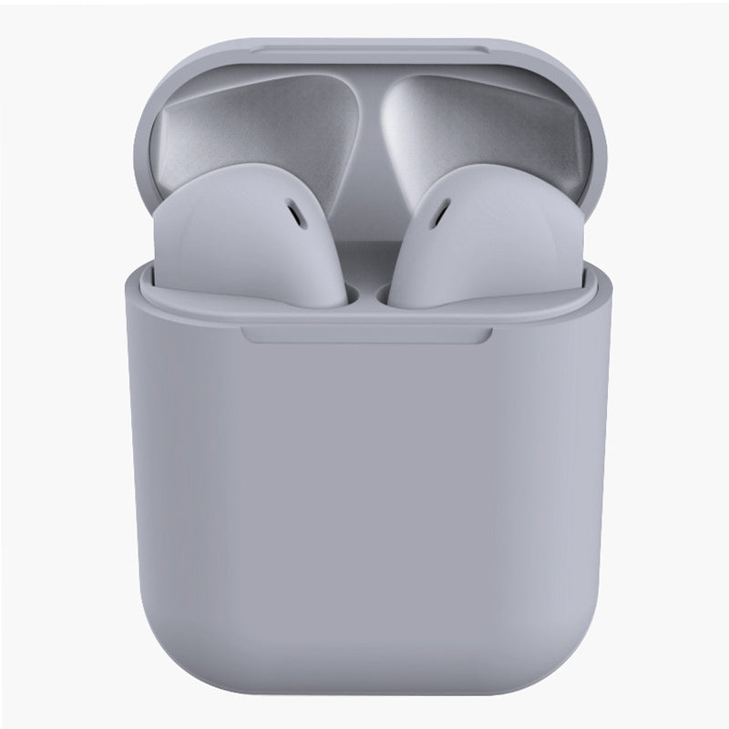 InPods 12 HiFi Wireless Bluetooth 5.0 Earphones with Charging Case, Support Touch & Voice Function (Grey)