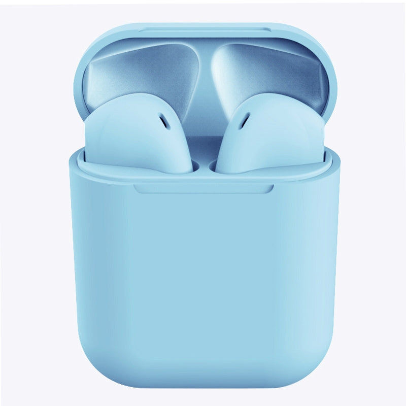 InPods 12 HiFi Wireless Bluetooth 5.0 Earphones with Charging Case, Support Touch & Voice Function (Sky Blue)