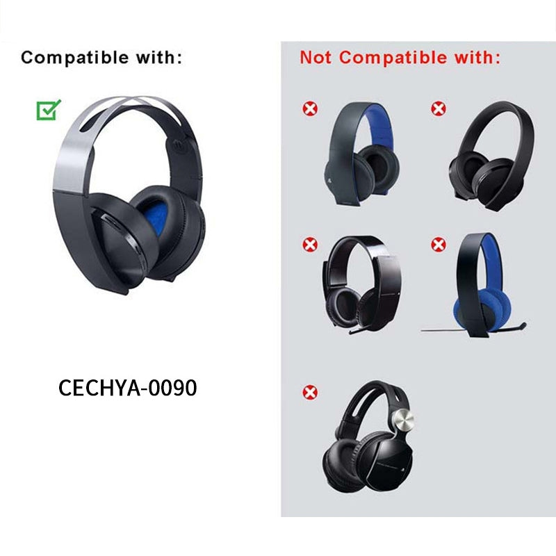 For Sony PS4 7.1 PlayStation Platinum CECHYA-0090 Earphone Cushion Cover Earmuffs Replacement Earpads Without Mesh
