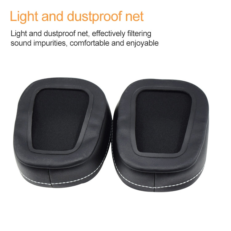 2 PCS For DENON AH-D600 D7100 Soft Sponge Earphone Protective Cover Earmuffs (Black Brown)