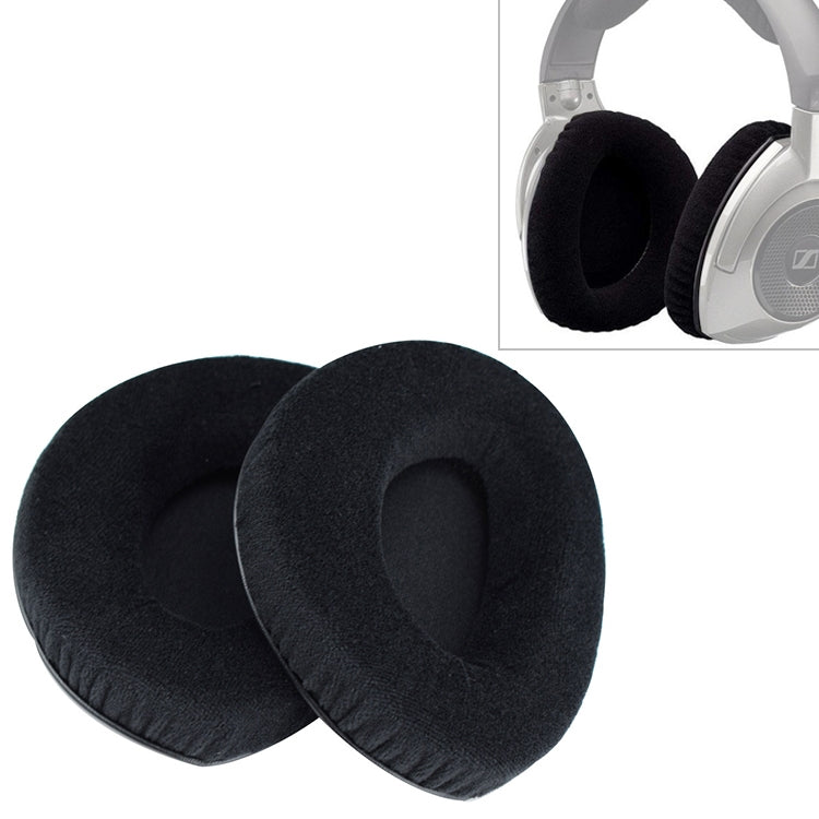 2 PCS For Sennheiser RS160 / RS170 / RS175 / RS180 / RS185 / RS195 Flannelette Earphone Cushion Cover Earmuffs Replacement Earpads without Buckle
