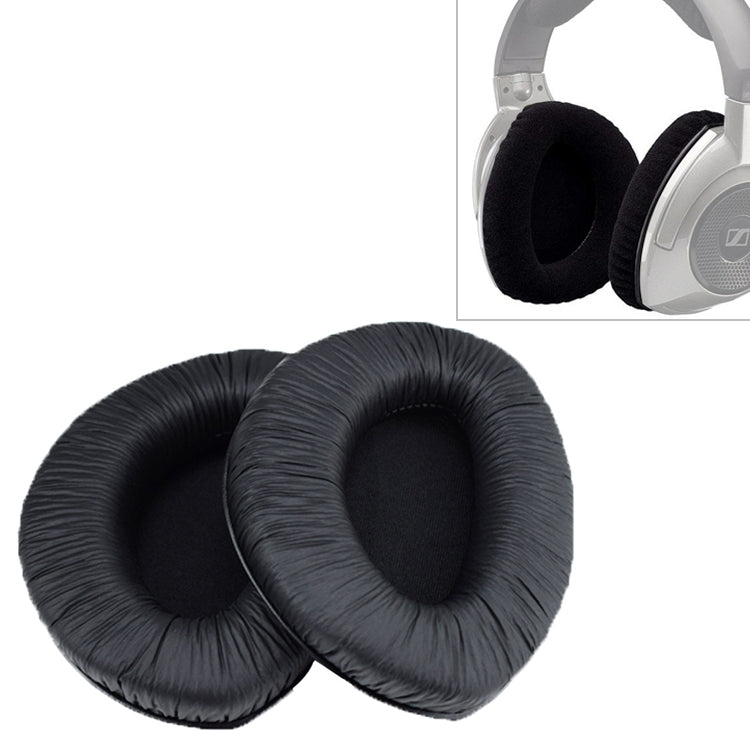2 PCS For Sennheiser RS160 / RS170 / RS175 / RS180 / RS185 / RS195 Wrinkled Skin Earphone Cushion Cover Earmuffs Replacement Earpads without Buckle