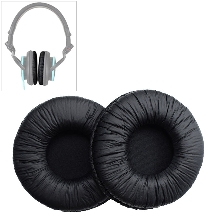 2 PCS For SONY MDR-V55 Earphone Cushion Leather Cover Earmuffs Replacement Earpads (Black)