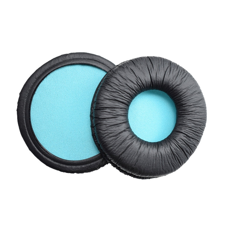 2 PCS For SONY MDR-V55 Earphone Cushion Leather Cover Earmuffs Replacement Earpads (Blue)