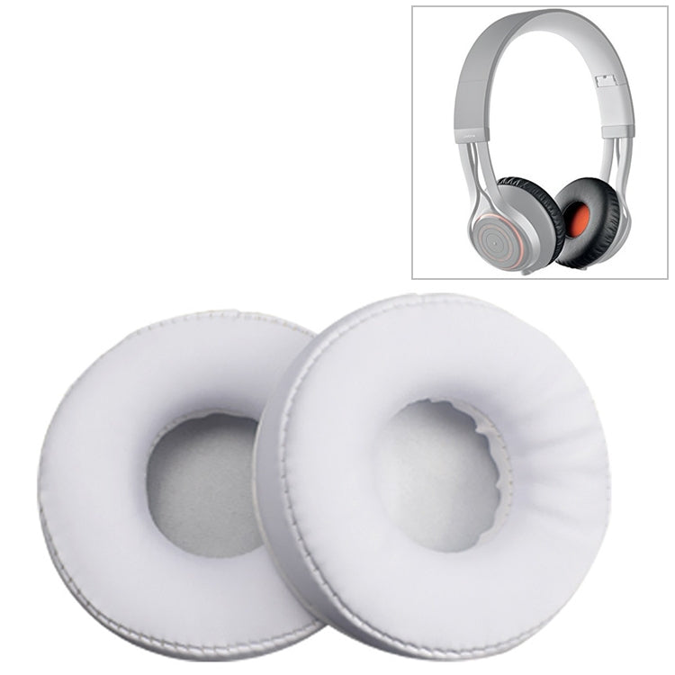 2 PCS For Jabra Move Revo Wireless Headphone Cushion Sponge Leather Cover Earmuffs Replacement Earpads(White)